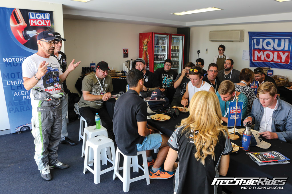 Fully catered corporate box had many high-profile guest speakers, including the 2014 Bathurst 12-Hour winner and three-time TCM champion, John Bowe