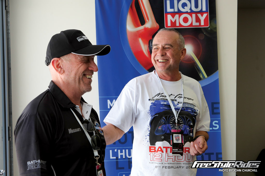 Liqui-Moly founder and sole owner Ernst Prost and MotorActive Managing Director Bruce Morrison finalising their new 2016 trade agreement