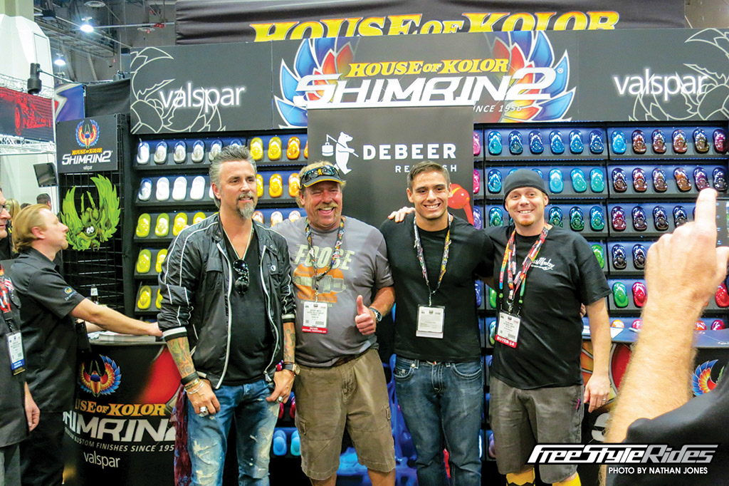 The crowd was 10 deep when Richard Rawlings took centre stage on the House of Kolor stand. The star of Fast 'N' Loud and Gas Monkey Garage was a massively-popular SEMA celebrity