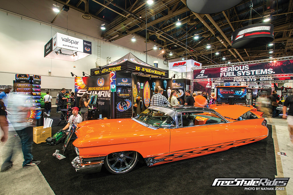 If size matters, then Jesse Osborne's 1960 Cadillac, named CRIMINL, was the king of SEMA