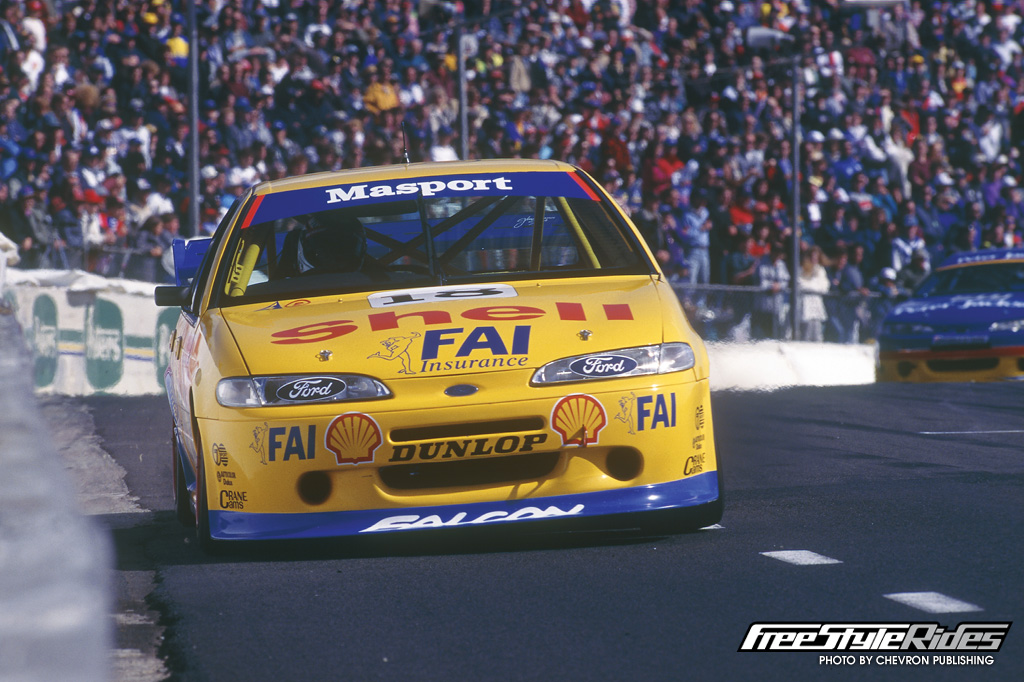 To secure the 1995 ATCC, JB had to put it on pole for the last round at Oran Park and take two race wins against a hard-charging Peter Brock and Glenn Seton who were also attempting to secure the championship